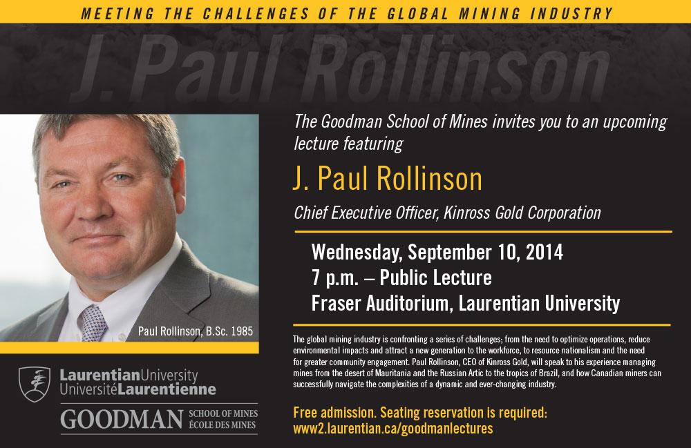 PaulRollinson Lecture Series