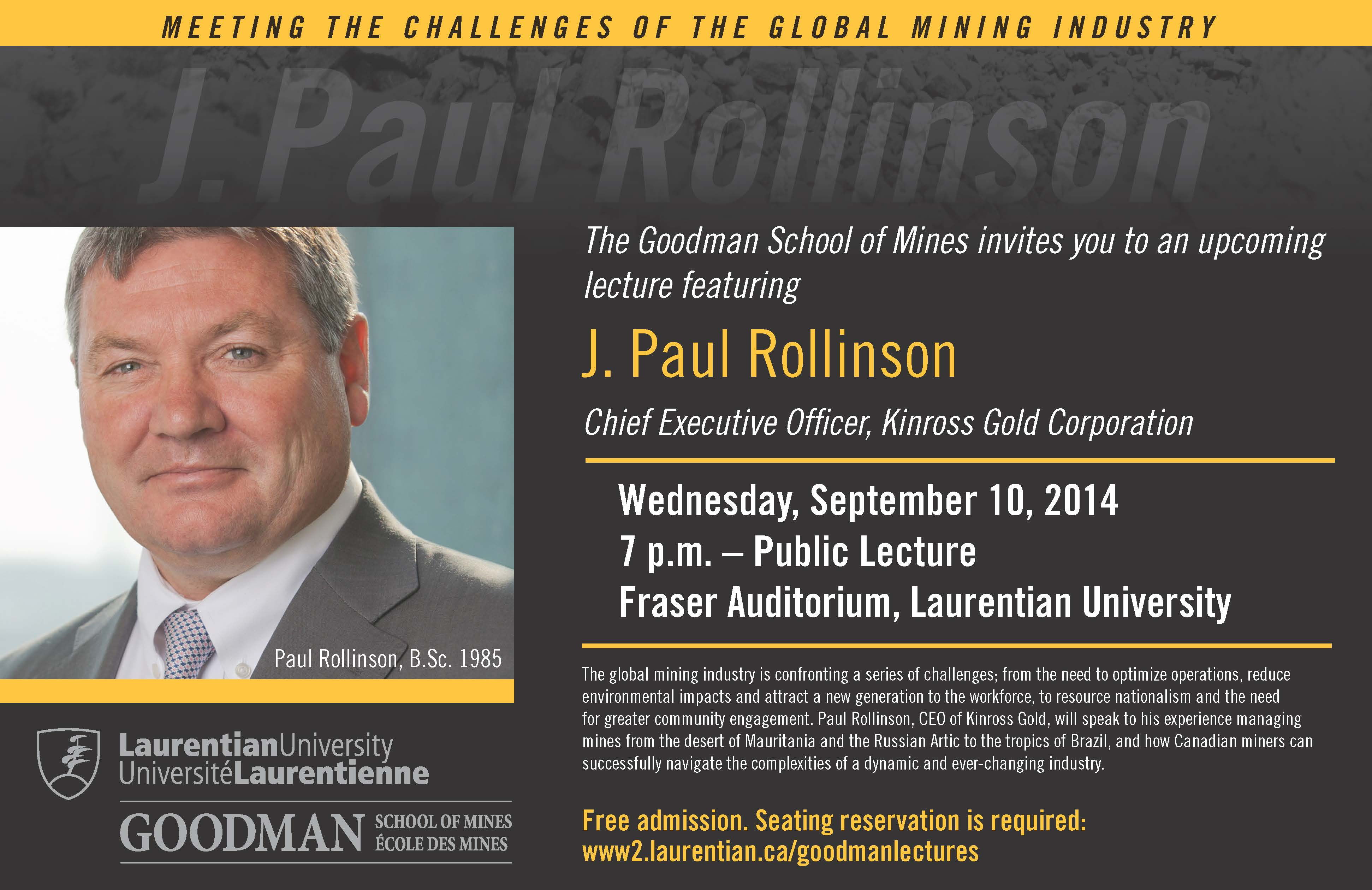Rollinson Lecture