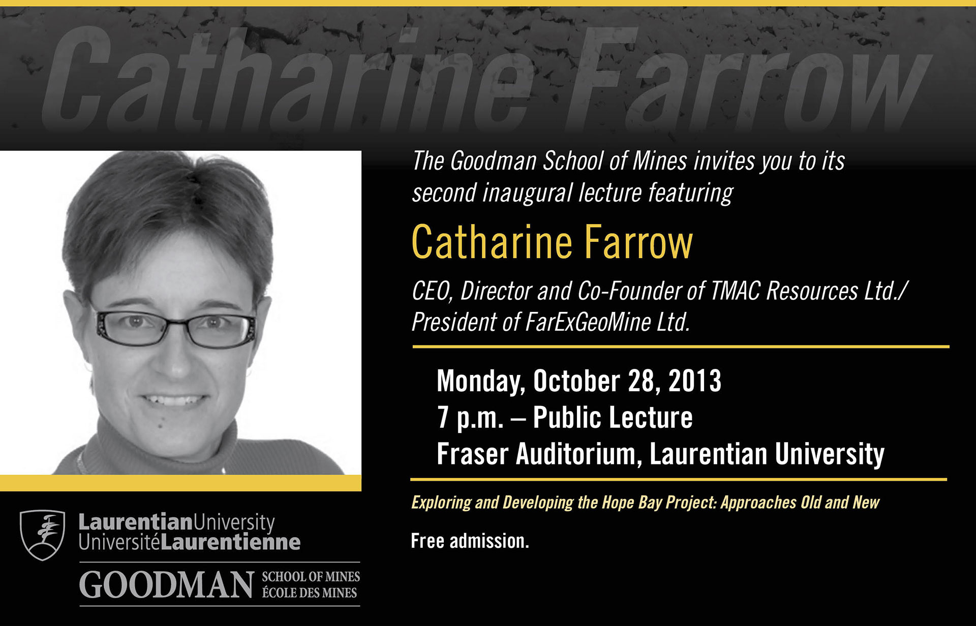 Catherine Farrow GSM Lecture