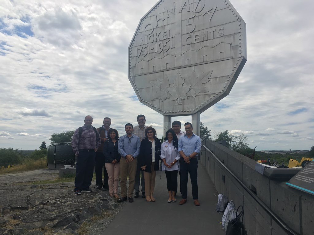 The delegation visits the Big Nickel!