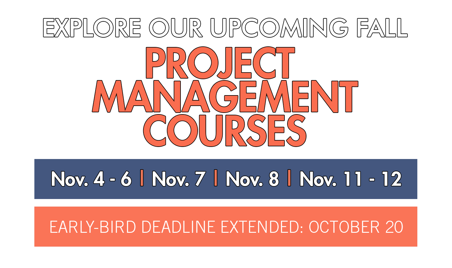 Project Management – Fall Courses
